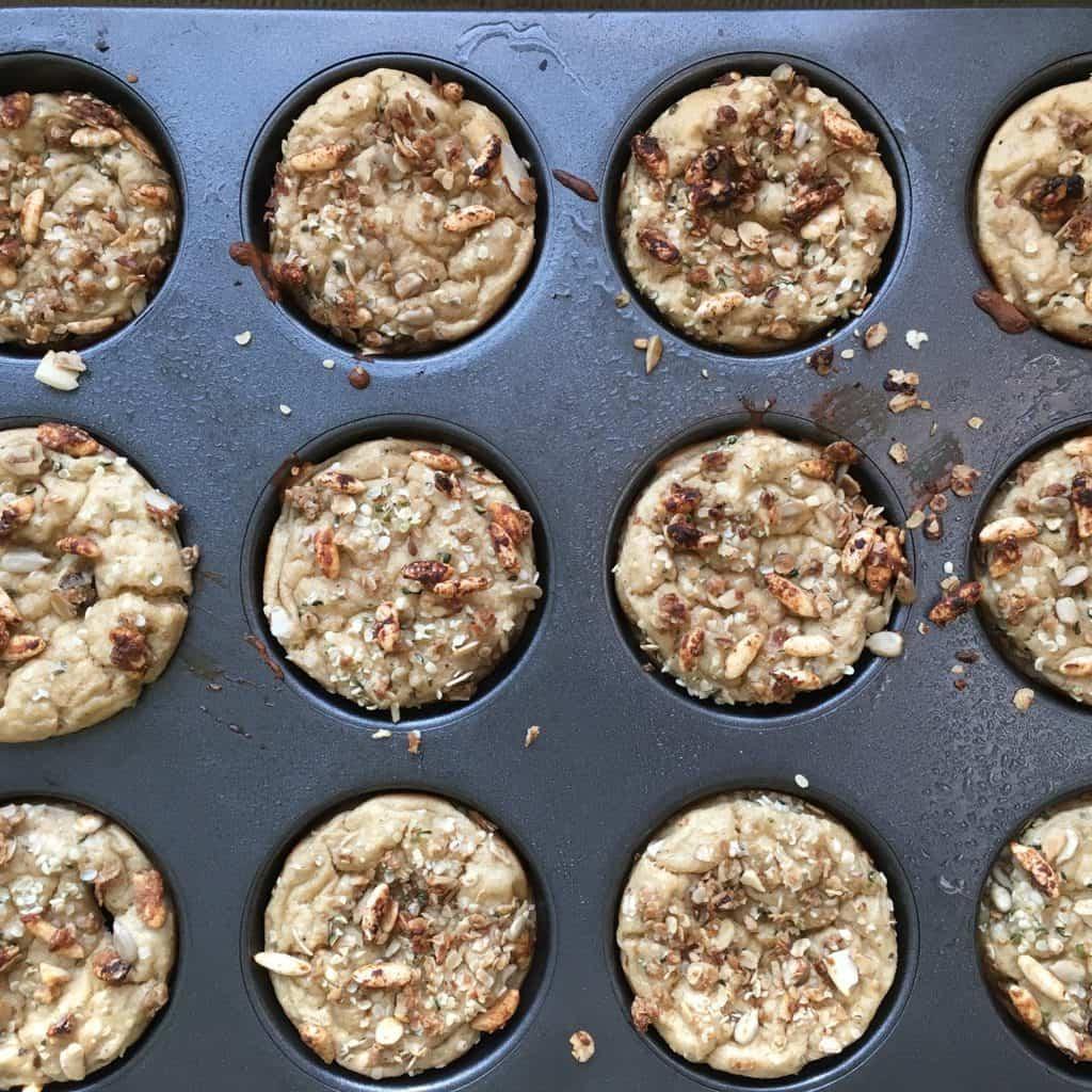 Sugar-Free Protein Banana Muffins {RSF, GF}