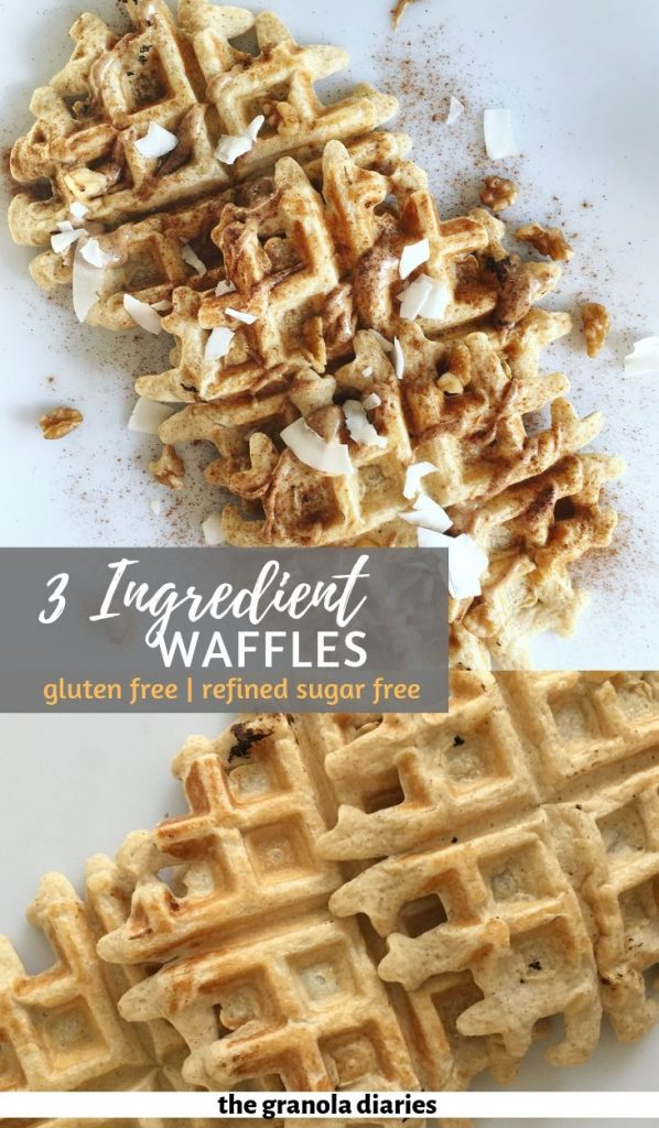 healthy waffles! Naturally gluten free and made with cottage cheese. #cottagecheesewaffles #healthywaffles #highproteinbreakfast
