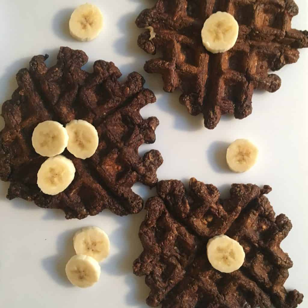Mocha Banana Bread Waffles {Gluten Free, Sugar Free, Vegan}