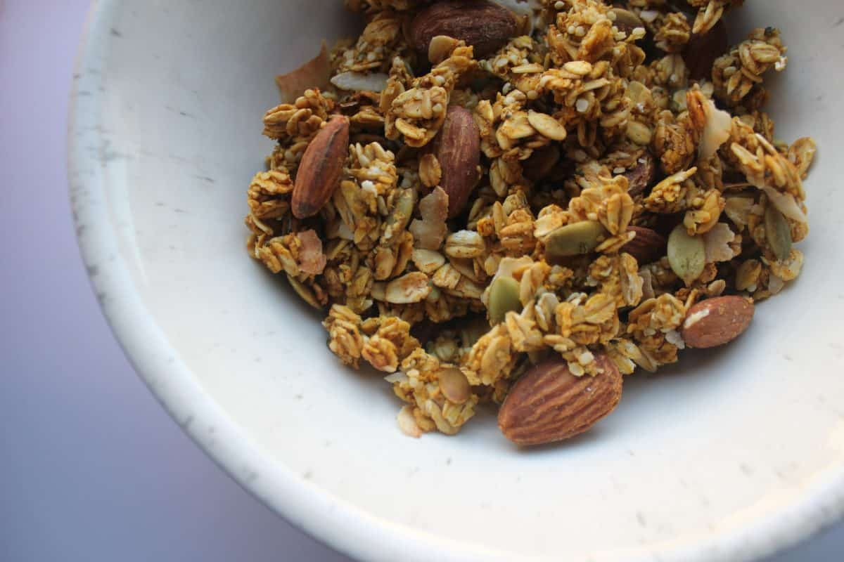 Pumpkin Spice- Toasted Coconut Granola {GF, RSF}