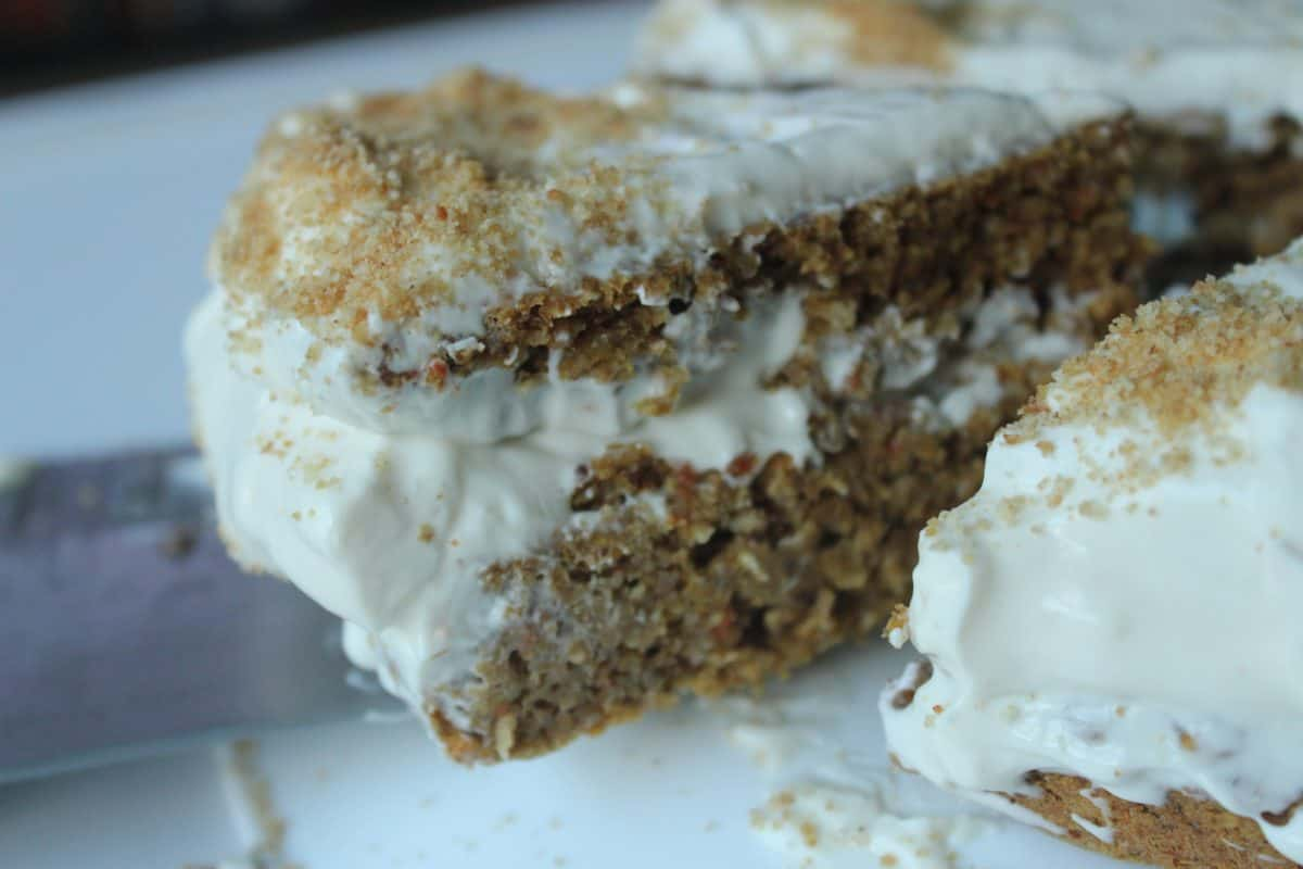 HEALTHY CARROT-PUMPKIN CAKE with Healthy Frosting {Gluten Free, Vegan, Refined Sugar Free}
