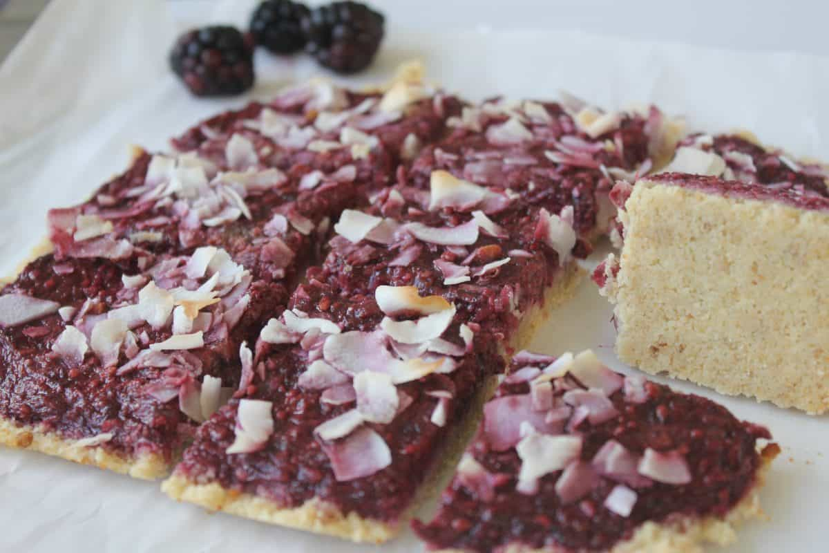 Paleo Blackberry Ginger Dessert Bars {Gluten Free, Vegan}