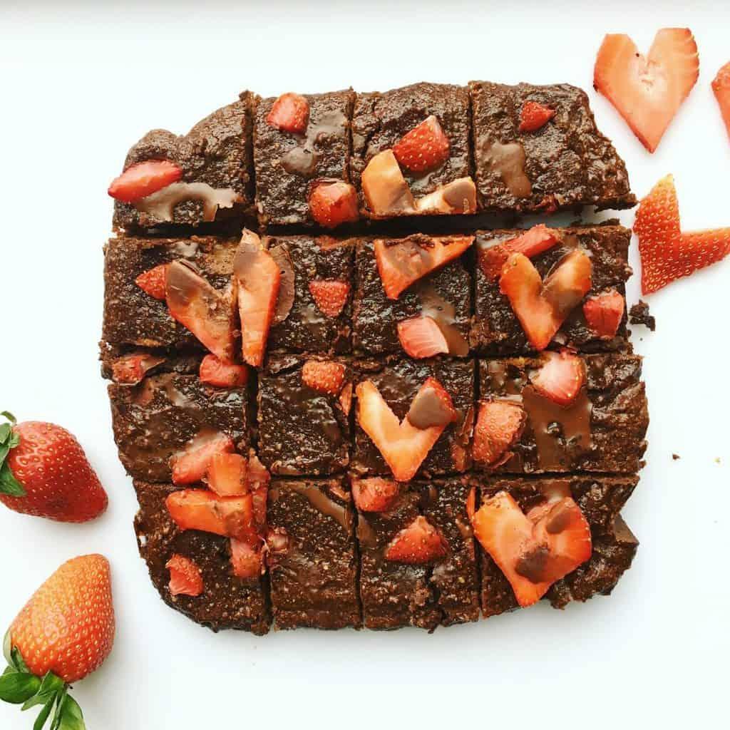HEALTHY VALENTINE'S DAY BROWNIES {Gluten Free, Refined Sugar Free, Dairy Free}