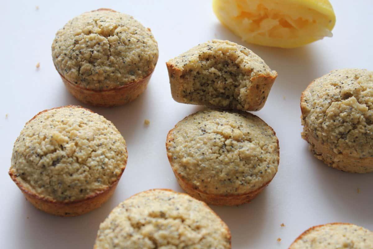 Lemon Poppy Seed Muffins {Gluten Free, Refined Sugar Free}