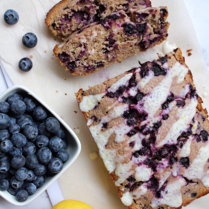 gluten free lemon blueberry bread