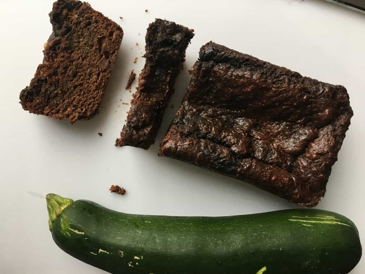 healthy chocolate zucchini bread gluten free sugar-free vegan