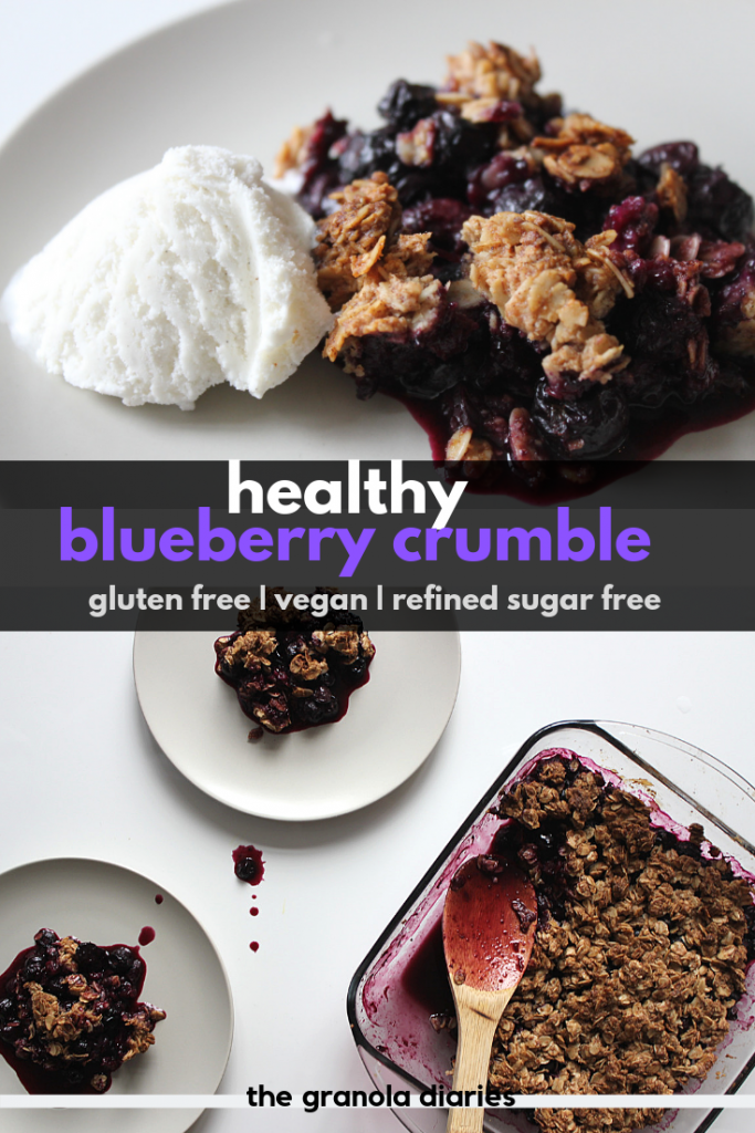 healthy blueberry crumble recipe vegan gluten free sugar free