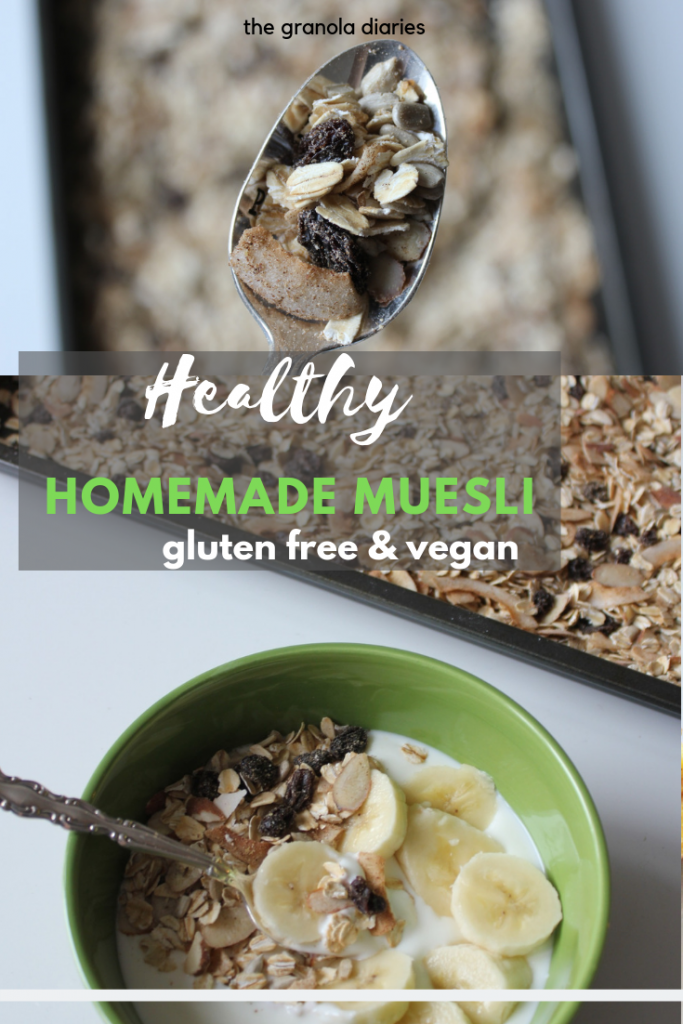healthy gluten free homemade muesli - #glutenfree #sugarfree #healthybreakfast