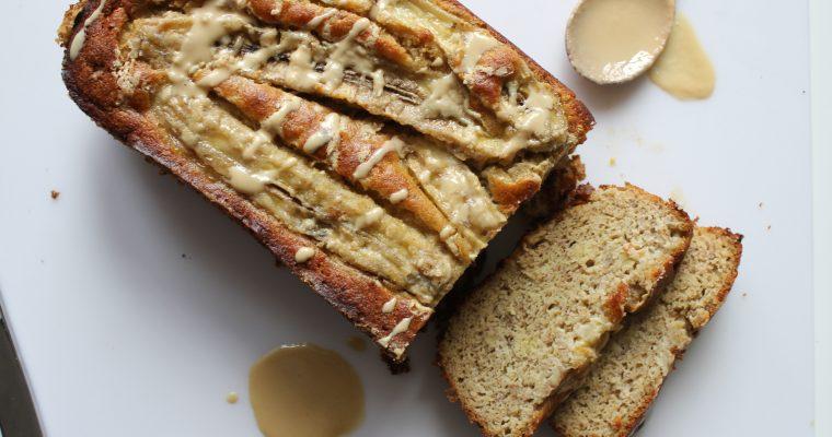 Paleo Tahini Banana Bread {Gluten Free, Sugar Free, Dairy Free}