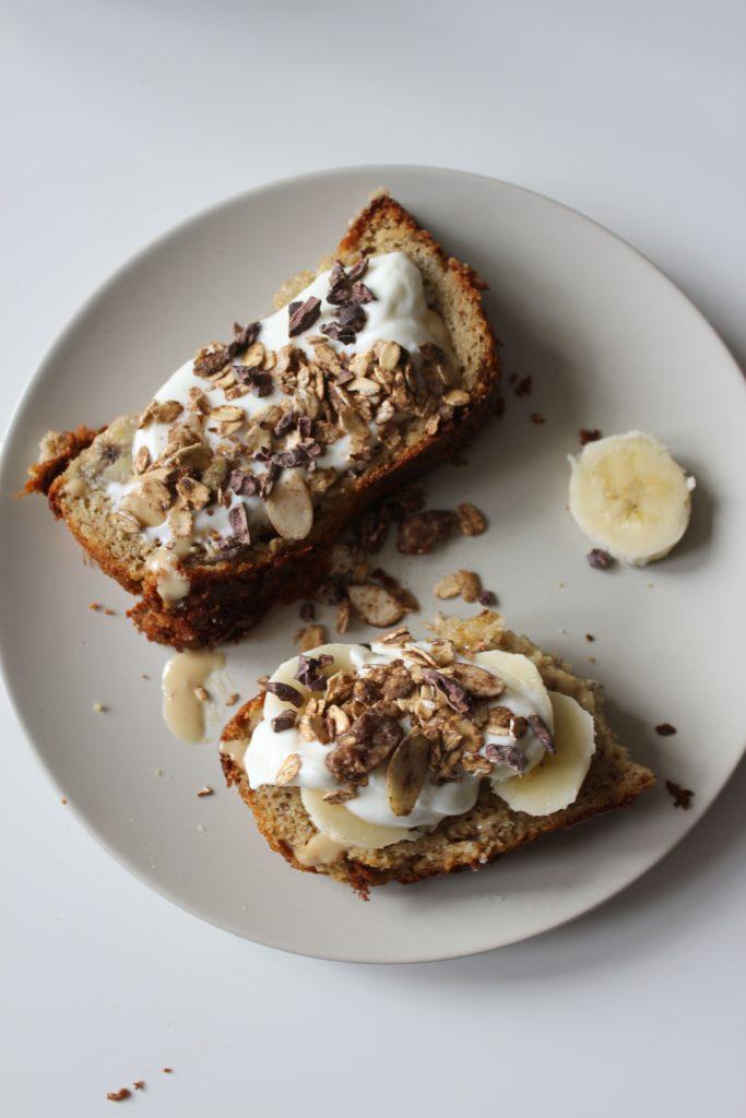 paleo tahini banana bread