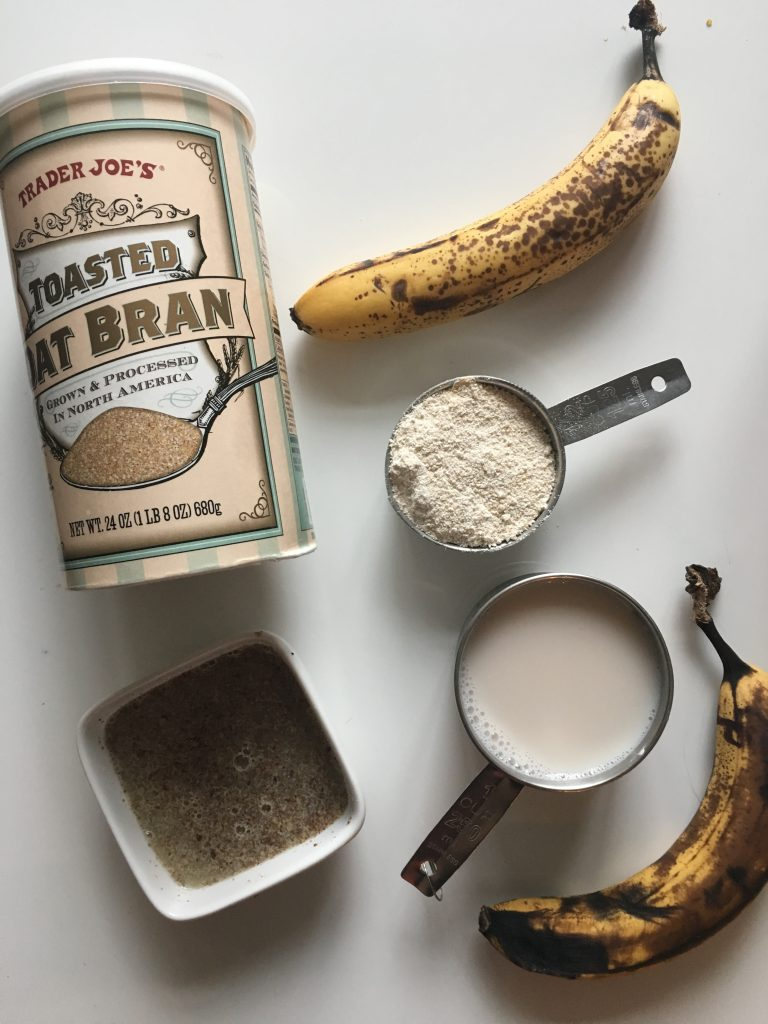 These oat bran banana muffins make the perfect breakfst on-the-go! They are high in fiber, low in sugar, and naturally gluten free, sugar free and vegan!