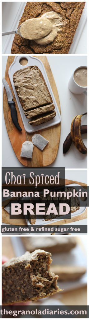 healthy chai spice pumpkin bread