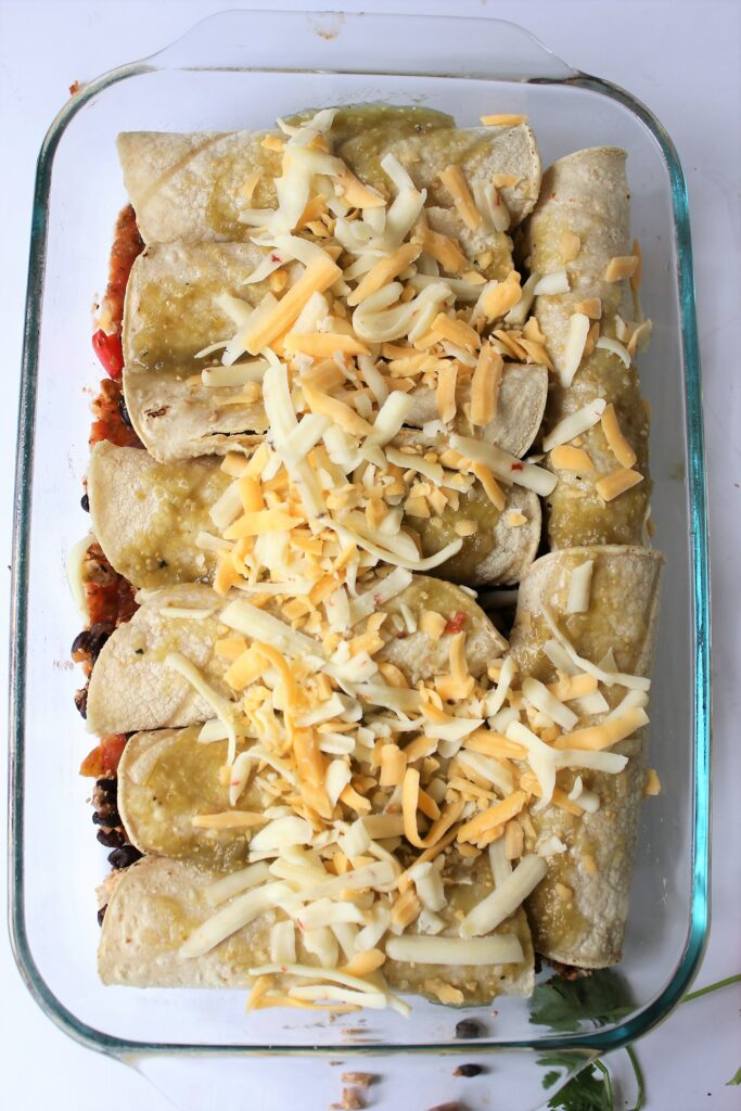 Pre baked vegetarian enchiladas