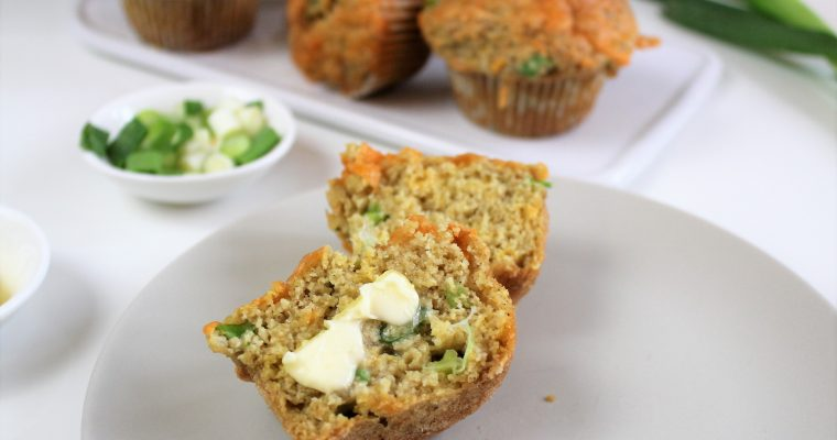 Savory Cheddar Muffins with Scallions
