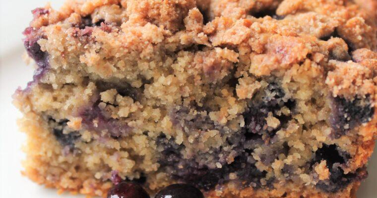 Healthy Blueberry Buckle (Gluten Free, Sugar Free, Dairy Free)