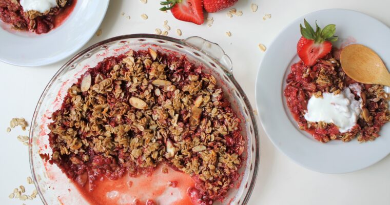 Vegan & Gluten Free Strawberry Crisp Recipe
