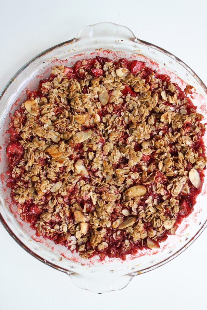 gluten free strawberry crisp after aking