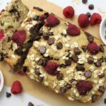 This gluten free & dairy free Raspberry Dark Chocolate Banana Bread is a delicious way to dress up a classic recipe. The berries & chocolate feel fancy, while adding some delicious flavor as well as anti-oxidants to this tasty loaf!