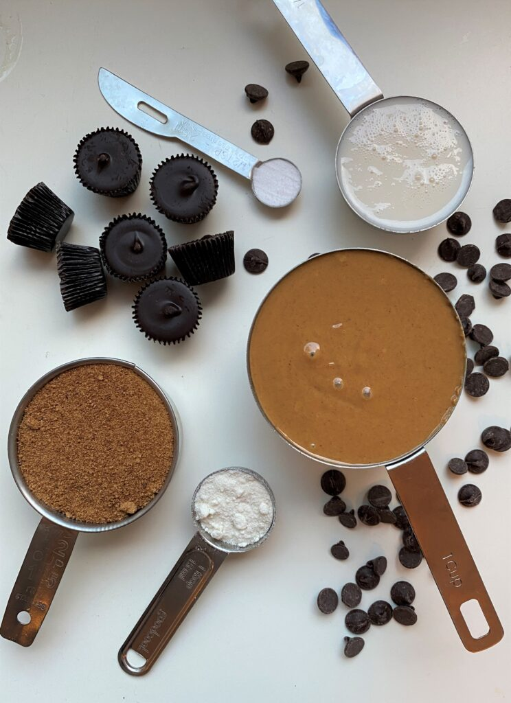 ingredients needed for vegan peanut butter spider cookies